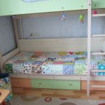 Couverture patchwork pour lit superposé d'enfant