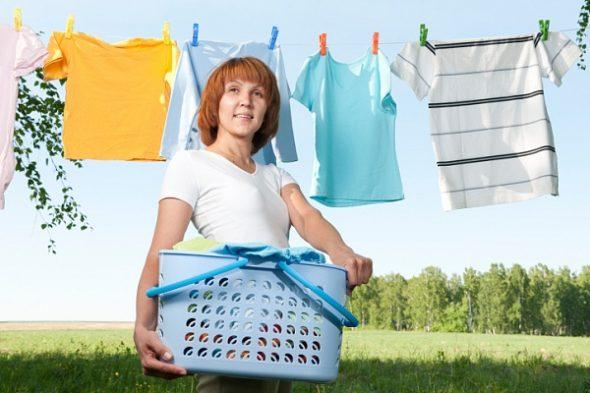 Le séchage des vêtements