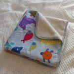 Couverture en laine bidirectionnelle pour bébé