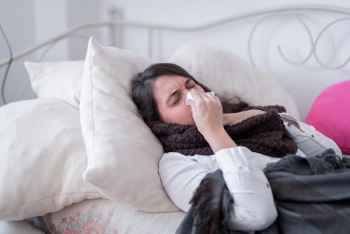 Linge de lit pour un rhume malade
