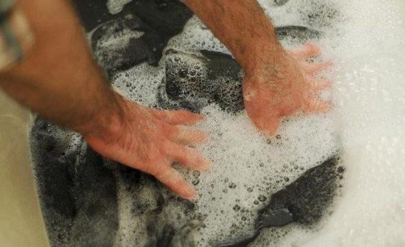 Laver la couverture avec soin