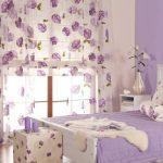 Decoratieve kussens voor de slaapkamer in een melkachtige lila kleur