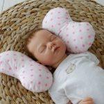 Baby kussen voor pasgeborenen Roze sterren