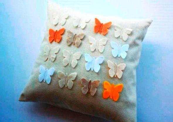 Butterfly voelde kussen