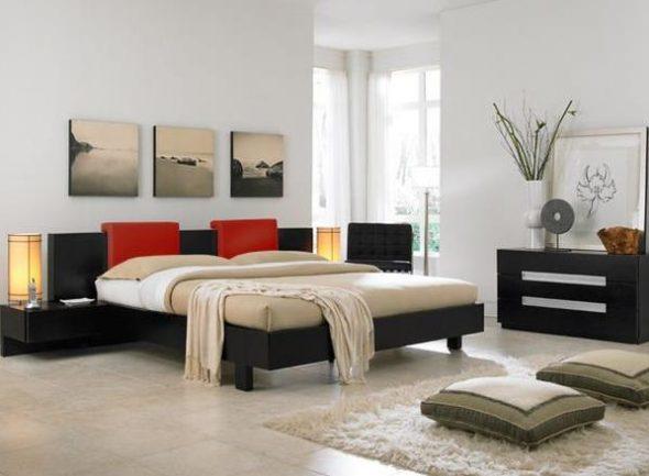 Mooie vloerkussens in de slaapkamer