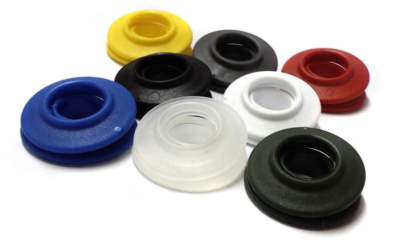 Oeillets en plastique multicolores pour bannières