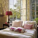 Kussens voor het decor in de slaapkamer Provence