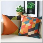 Geometrische kussens voor decor