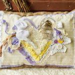 Elegant Provence handgemaakt kussen