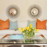 Optie symmetrische opstelling van decoratieve elementen