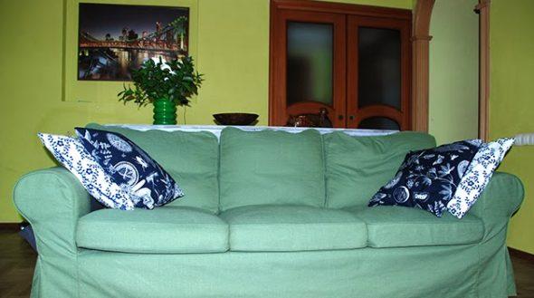 Decoratieve kussens in het interieur