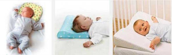 Orthopedisch hoofdkussen voor slapende baby