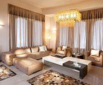 conception de rideau pour les idées d'intérieur de salle