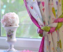jarretière pour rideaux dans la cuisine
