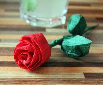 roses de serviettes design do-it-yourself