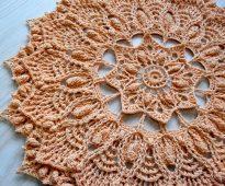 photo de conception de serviette au crochet