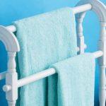 handdoekenrek in de badkamersontwerpideeën
