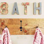 handdoekenrek in de badkamerfoto