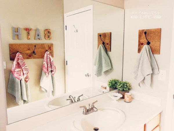 handdoekenrek in de badkamer ideeën