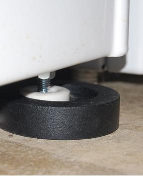 Des supports anti-vibrations pour des idées de design de machines à laver