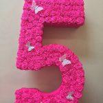 chiffres et lettres de serviettes faites-le vous-même photo décoration