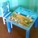 table et chaise de découpage
