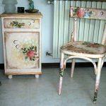 chaise et tables de nuit à découper