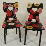 chaise de découpage de fleurs