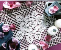 idées de conception de serviette de filet au crochet