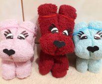 jouets de serviette de chien