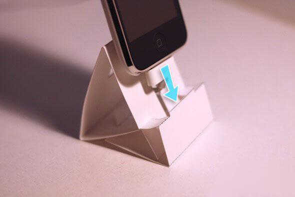 origami telefoonhouder