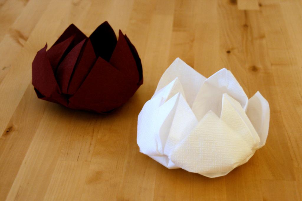Origami servet tafeldecoratie
