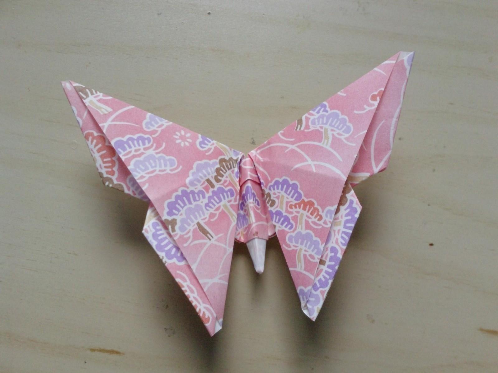 origami vlinder foto