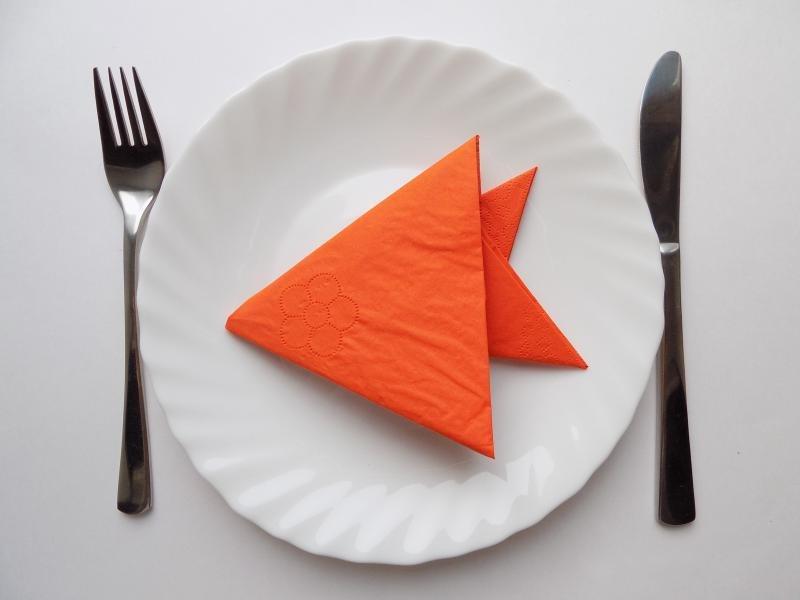 origami servet vis