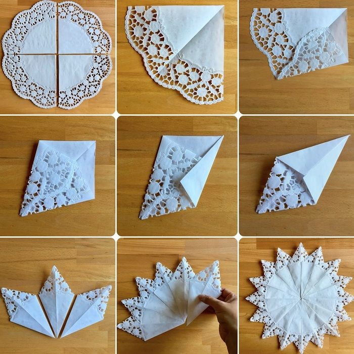 origami sneeuwvlok servet