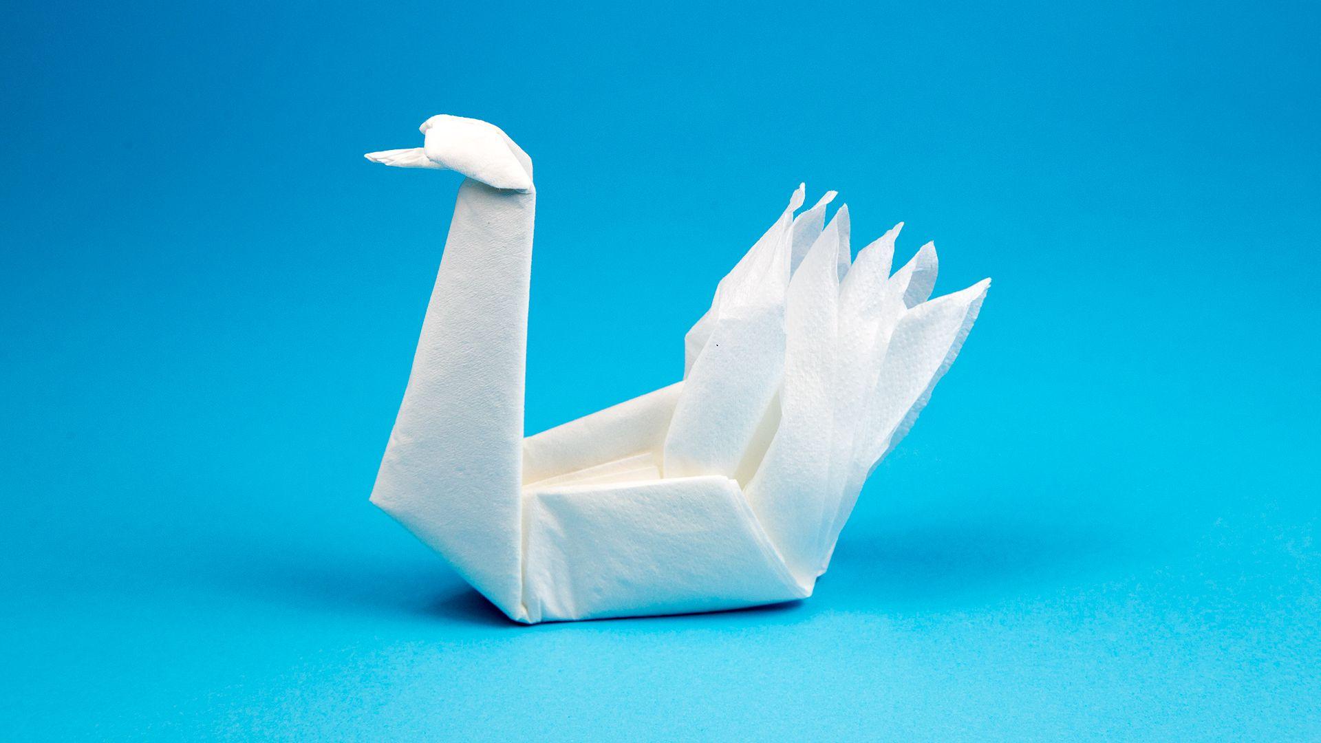 origami zwanen