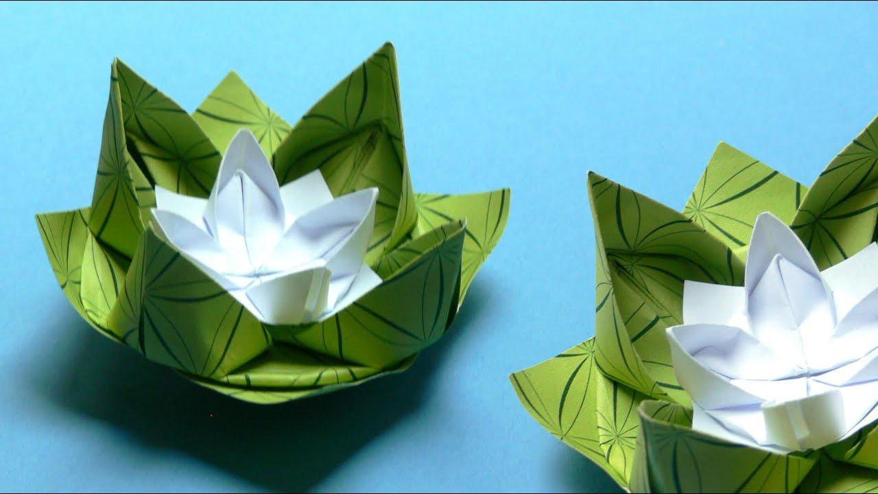 origami lelie waterlelie foto