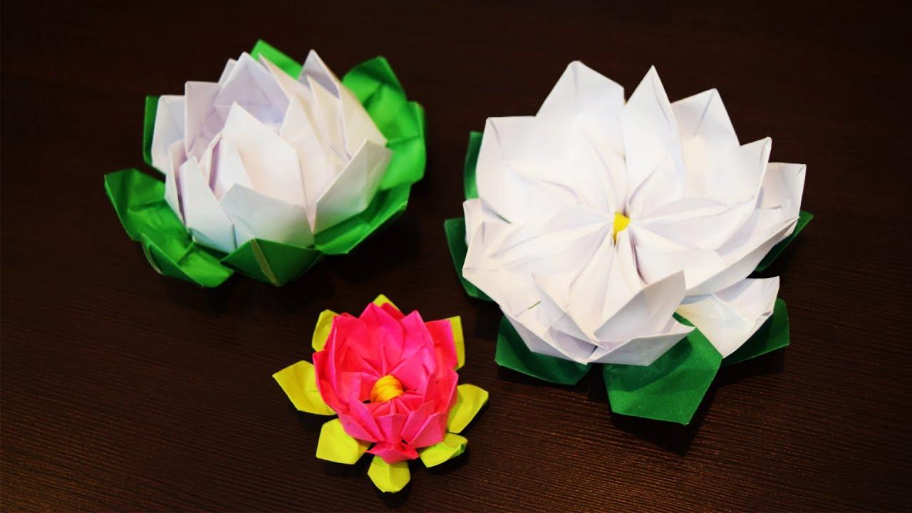 origami lelie waterlelie