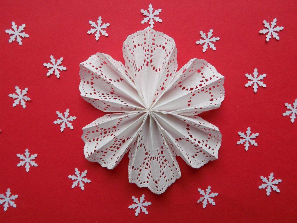 origami sneeuwvlok