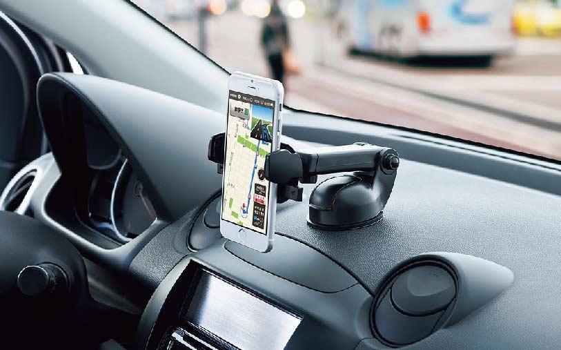 staan voor de telefoon in de auto
