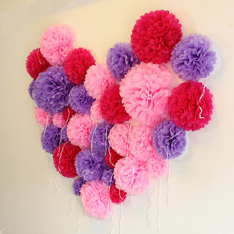 pompons de serviettes en papier décor photo