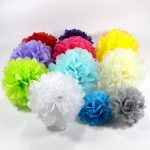 pompons d'idées de design de serviettes de table