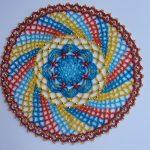 décoration de serviette perlée