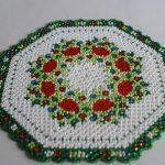 décoration de perle de serviette