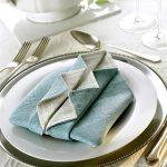 tafel instelling servetten ideeën decoratie