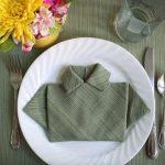 tabel met origami servetten ontwerpideeën