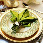 tabel met origami servetten fotoontwerp
