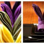 tabel met origami servetten ideeën ontwerp