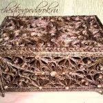 décoration de boîte de jute