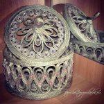 boîte à bijoux en jute faites-le vous-même design décor